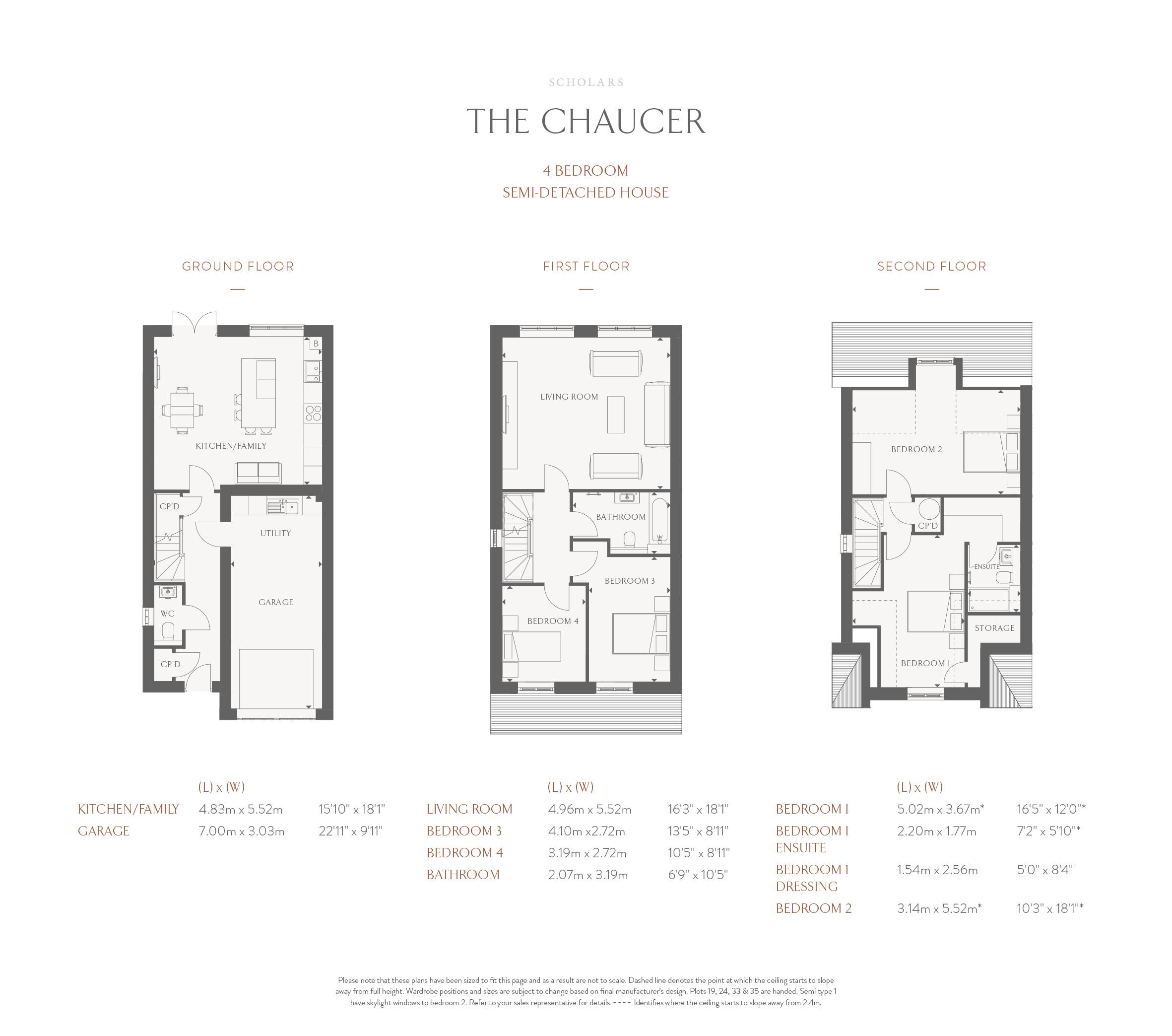 Semi-Detached Floorplan - Chaucer